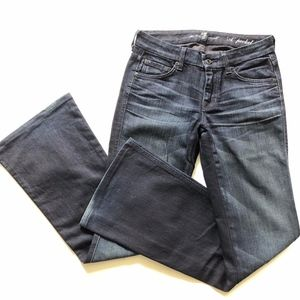 7FAM the A Pocket Dark Wash Bootcut Jeans